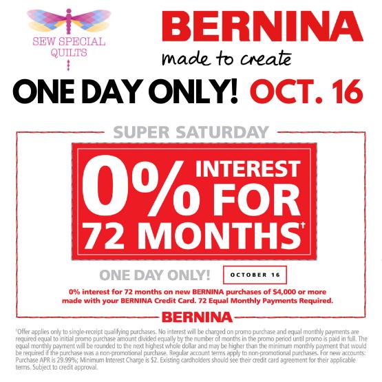 SUPER SATURDAY BERNINA
