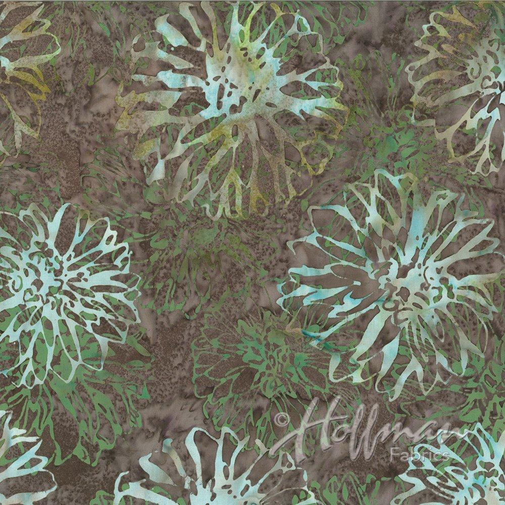 P2021 305 Gravel Sundrenched Dahlia Batik Hoffman Fabrics