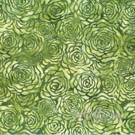 P2962 319 Green Snake Batik Hoffman Fabrics
