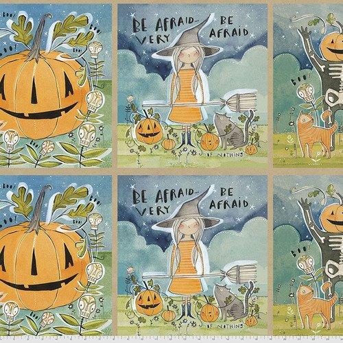PWCD001.XPANEL 1/3 YARD  In the Spirit Spirit of Halloween Cori Dantini Freespirit Fabrics