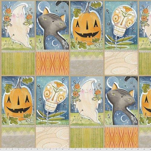 PWCD002.XPANEL 2/3 YARD Hallowed Joy Panel Spirit of Halloween Cori Dantini Freespirit Fabrics