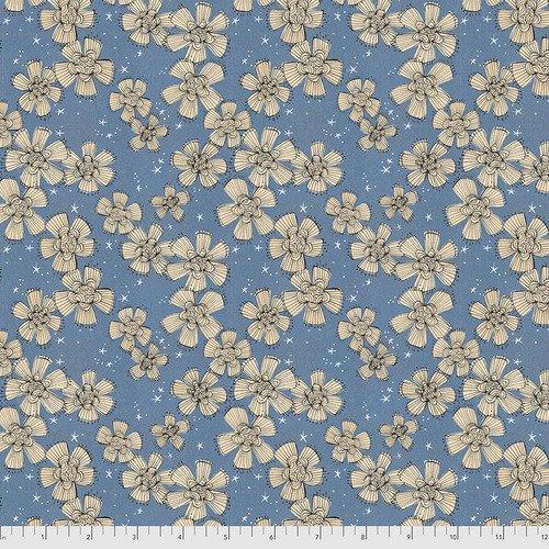 PWDC004.XBLUE Blue Nocturnal Bloom Spirit of Halloween Cori Dantini Freespirit Fabrics