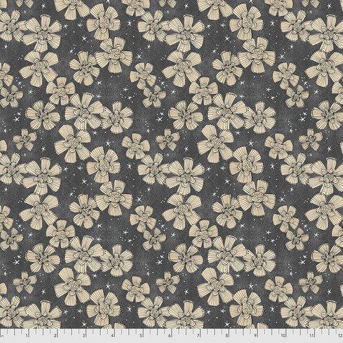 PWDC004.XCHARCOAL Charcoal Nocturnal Bloom Spirit of Halloween Cori Dantini Freespirit Fabrics