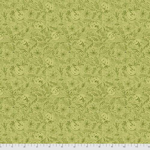 PWCD005.XGREEN Green We See You Spirit of Halloween Cori Dantini Freespirit Fabrics