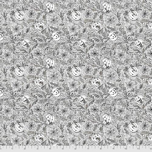 PWCD005.XWHITE White We See You Spirit of Halloween Cori Dantini Freespirit Fabrics