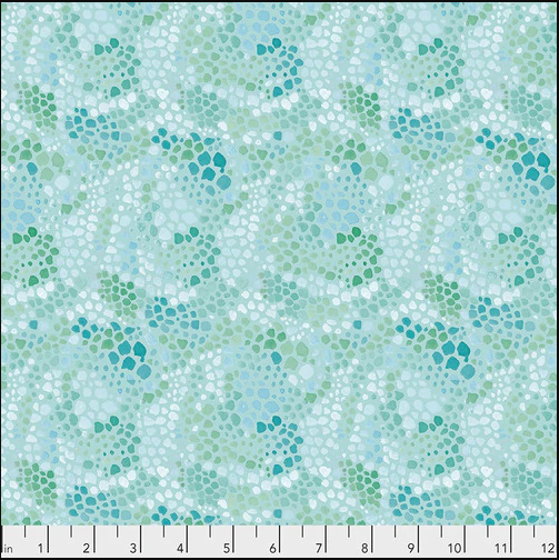 PWDF311.AQUA Aqua Melany Mosaic Adelaide Free Spirit Fabrics