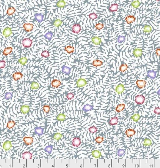 PWGP184.WHITE White Moss Flower Kaffe Fassett for the Kaffe Fassett Collective