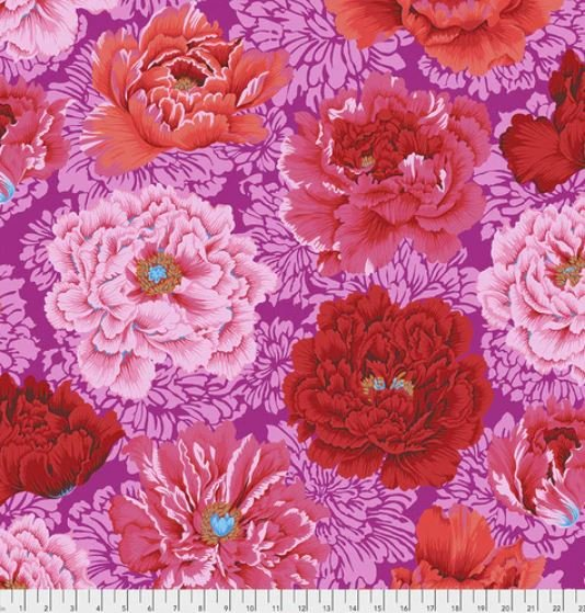 PWPJ062.HOT Hot Brocade Peony Philip Jacobs for the Kaffe Fassett Collective