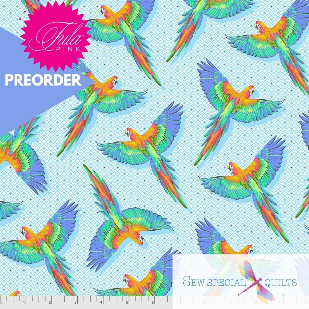 PWTP170.CLOUD Macaw Ya Later Daydreamer Tula Pink FreeSpirit Fabrics