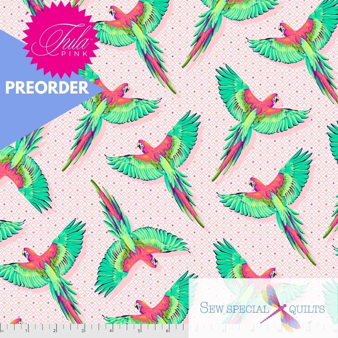 PWTP170.DRAGONFRUIT Macaw Ya Later Daydreamer Tula Pink FreeSpirit Fabrics