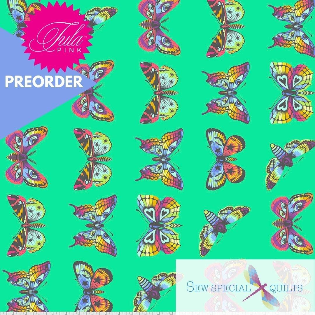 PWTP171.LAGOON Butterfly Hugs Daydreamer Tula Pink FreeSpirit Fabrics