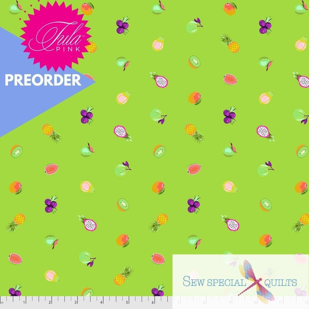 PWTP175.KIWI Forbidden Fruit Snacks Daydreamer Tula Pink FreeSpirit Fabrics