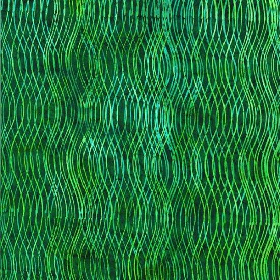 Q2202 272 Wavy Lines Mallard Bali Batik Hoffman