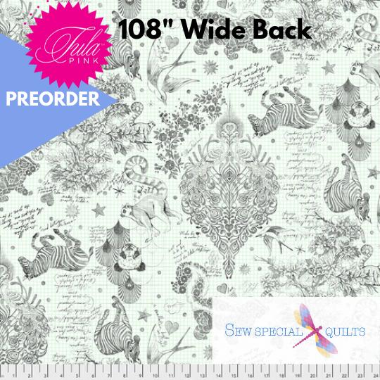 QBTP005.PAPER Sketchyer Linework by Tula Pink 108 Wide Back Free Spirit