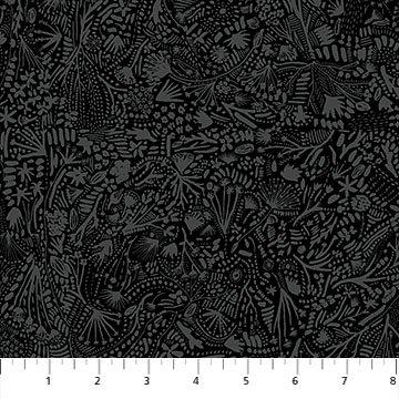 R90165 99 Black RAYON Plants After the Rain FIGO