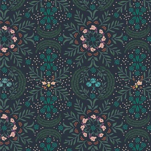 R-59650-1 Firefly Nightfall in RAYON Velvet Amy Sinibaldi Art Gallery Fabrics