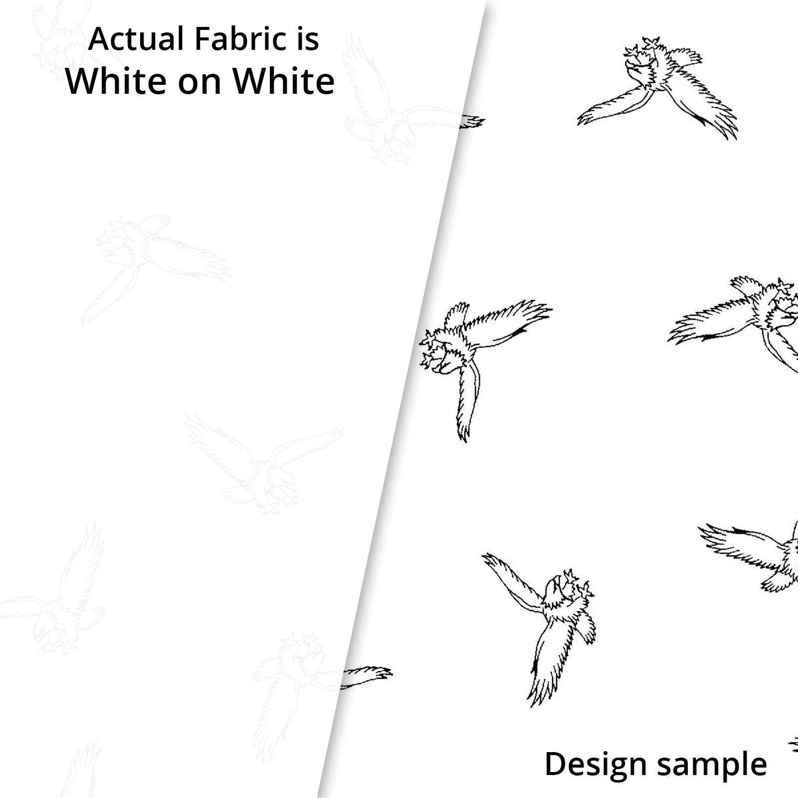 RAMS 4209 W White on White Eagles Spring Ramblings P&B Textiles