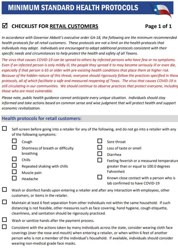 retail shopper guidelines