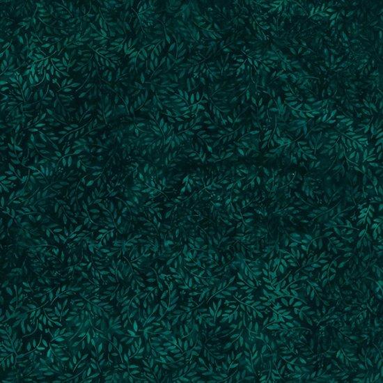 S2319-702 Deep Emerald Ditsy Flowers Bali Batik Hoffman Fabrics