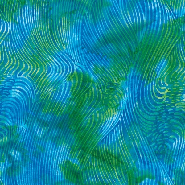 S2374-73 Waves Ocean Batiks Hoffman