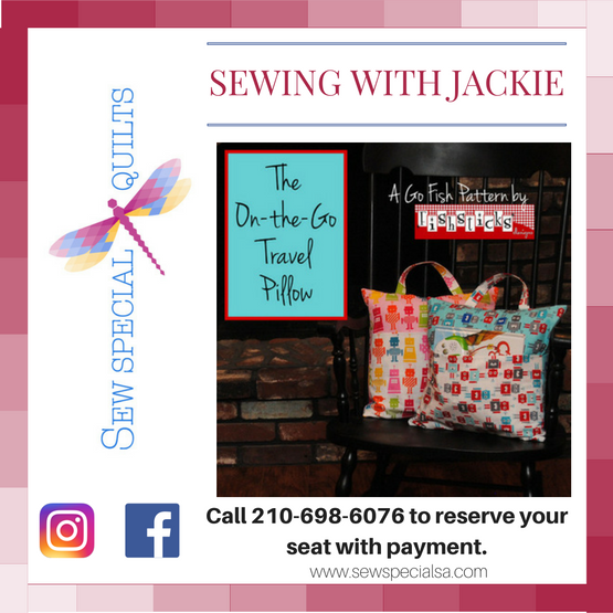 Sewing With Jackie On The Go Travel Pillow
