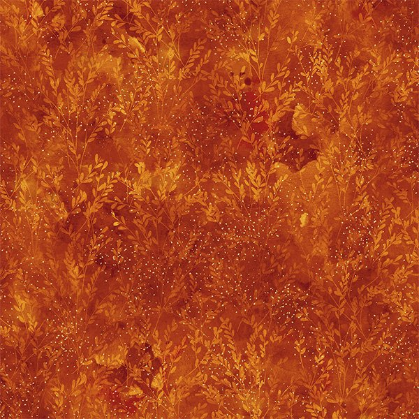 T4856-39G Rust/Gold Autumn Is In The Air Hoffman Fabrics