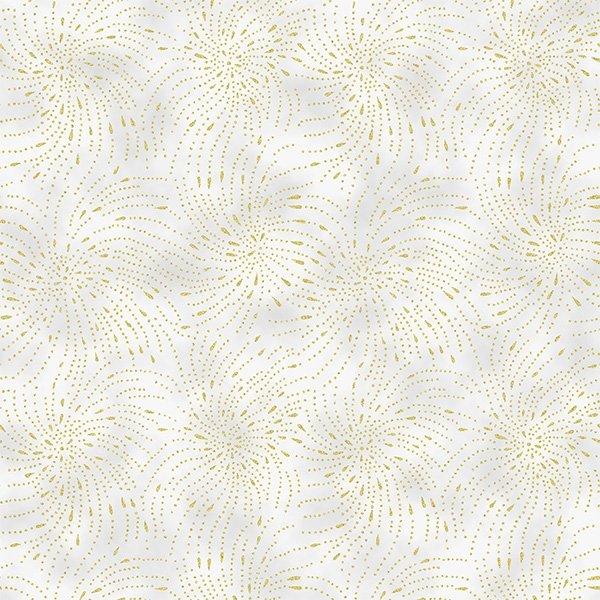 T7758-483G Fog/Gold Home Sweet Home Hoffman Fabrics
