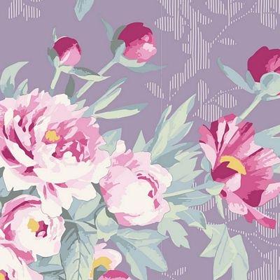 TIL100289 Hazel Lavender Woodland by Tilda Brewer