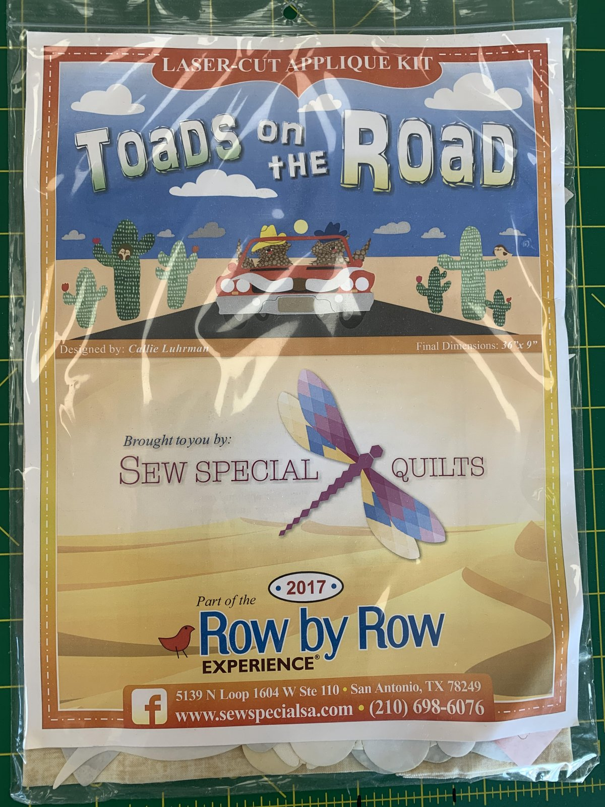 Toad on the Road SATX Row by Row 2017
