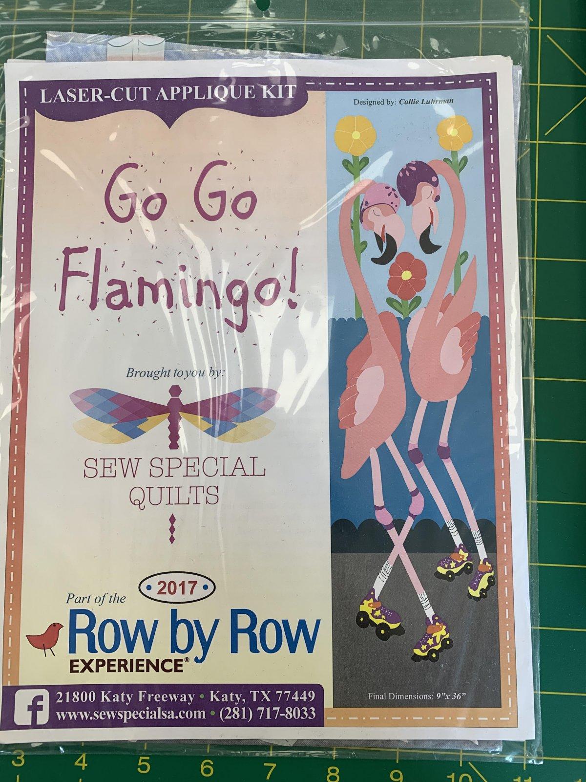 Row by Row Flamingo on the Go