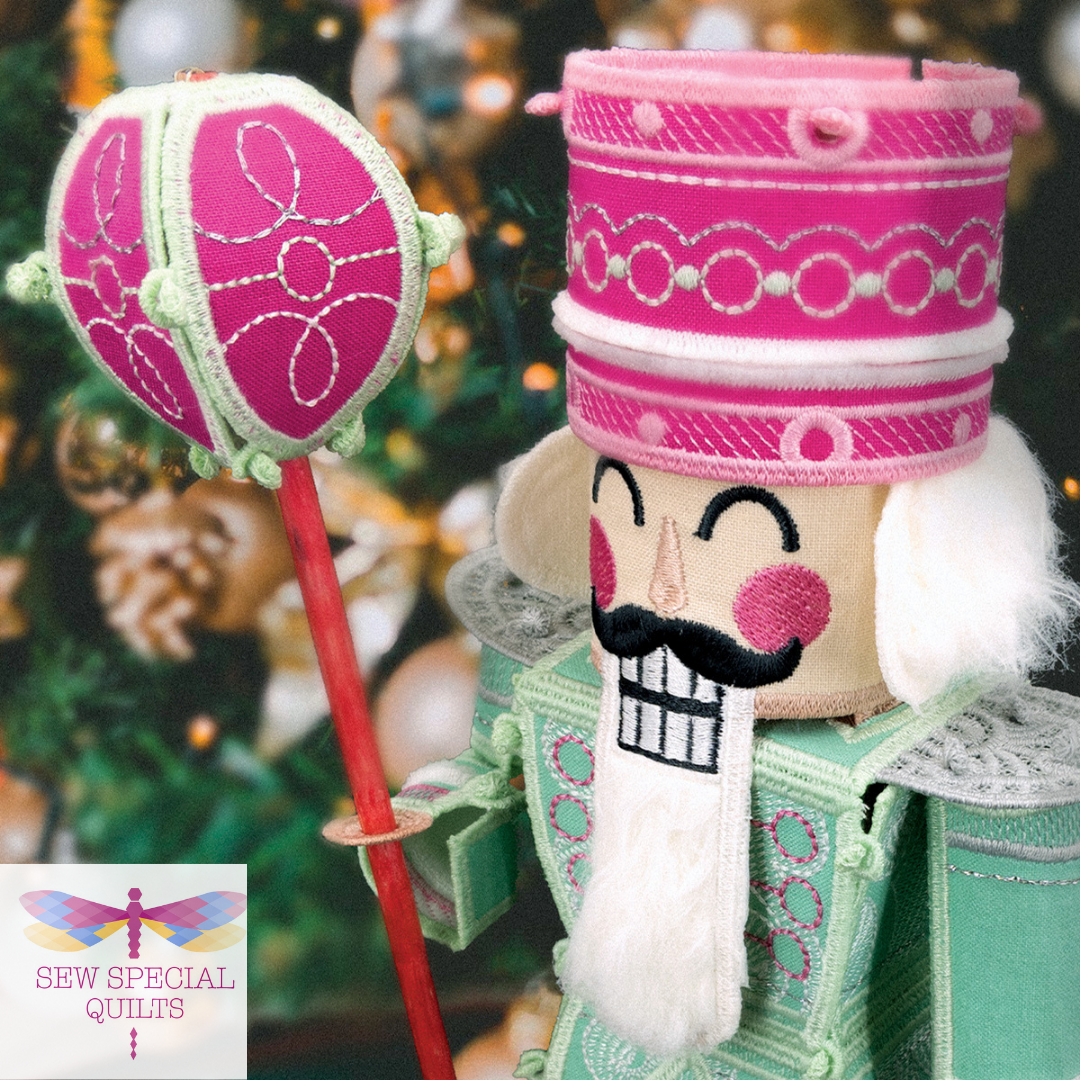 Freestanding Sugar Plum Nutcracker CD by Scissortail Stitches