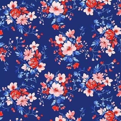 Y3223-55 Multi Color Bouquets America the Beautiful Heatherlee Chan Clothworks