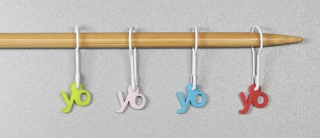 Yarn Over stitch markers