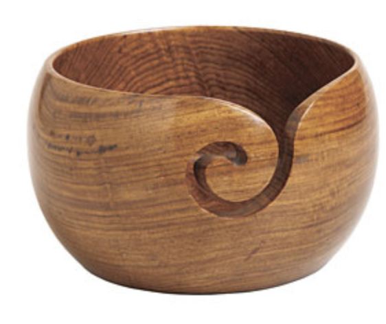Rosewood Yarn Bowl