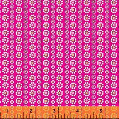Cotton - Floral Stripe