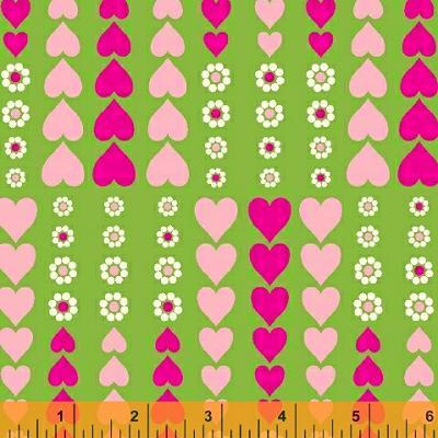 Cotton - Hearts & Daisy