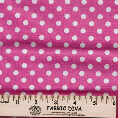 Cotton - Polka Dots Pink