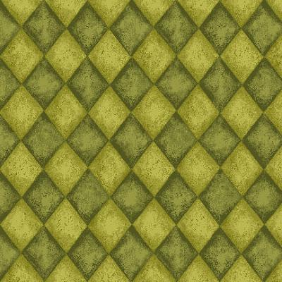 Cotton - Harvest Tonal Diamonds Green