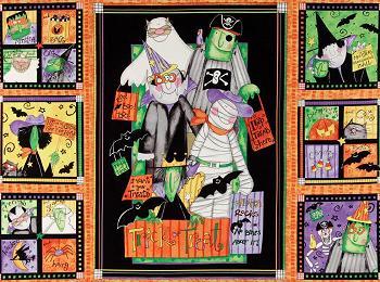 Cotton -  Monsters Halloween Craft Panel