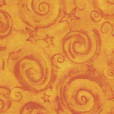 Cotton - Star & Swirls Gold