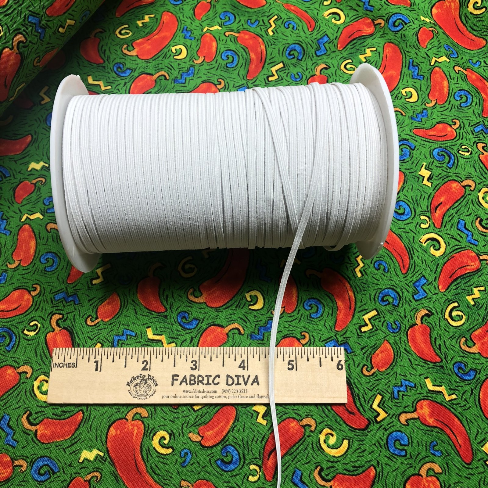 <B>4 yards (108) WHITE  ELASTIC 1/8 FREE SHIPPING