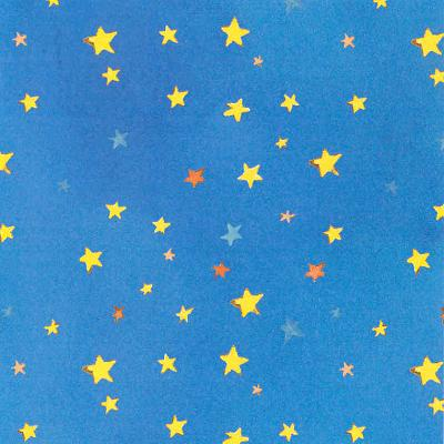 Cotton - Colorwash Stars Aqua/Royal