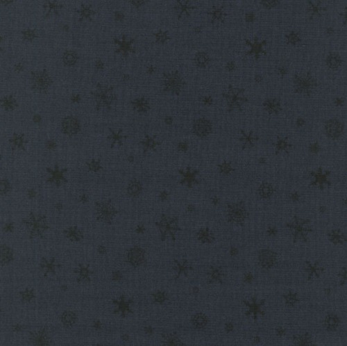 Cotton - Snowflakes Blue/Black