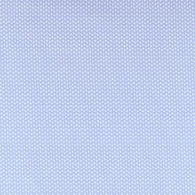 Cotton - Pin Dots Light Blue