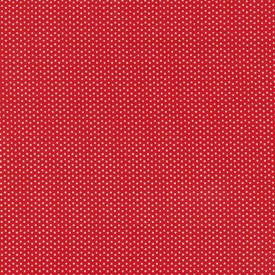 Cotton - Pin Dots Red