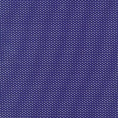Cotton - Pin Dots Royal Blue