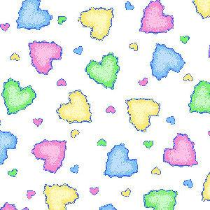 Flannel - Hearts Pastel