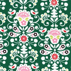 Cotton - Joyful Damask Green
