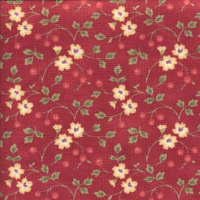 Cotton - Ramblin Rose Red