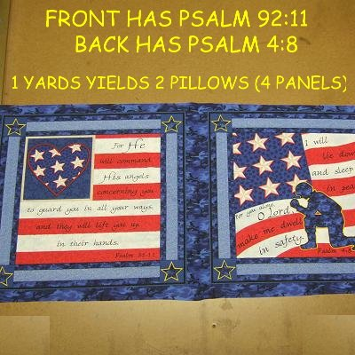 Soldier's Prayer - Patriotic Psalm (6) Pillow Panels